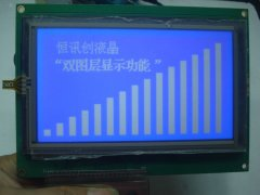 LCD240128 blue and white Chinese character LCD resistive tou