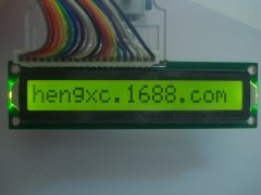The new yellow-green film appearance LCD1601B LCD 122 * 33 L